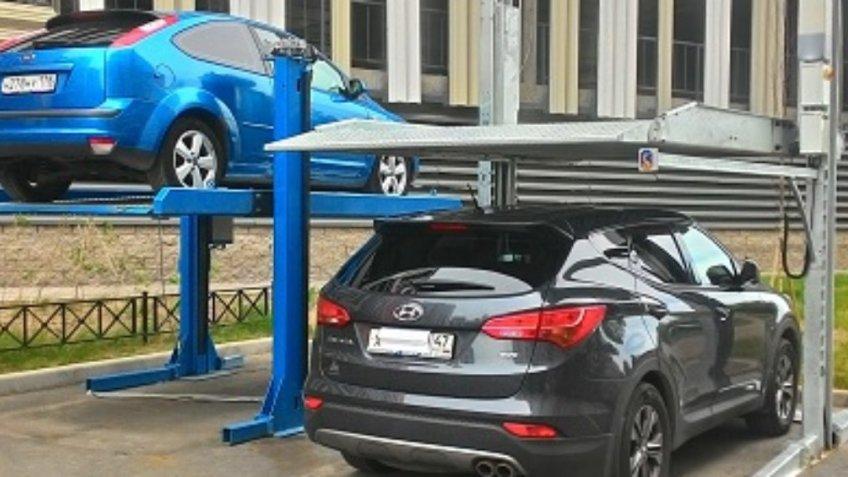 Двух-стоечная гидравлическая система парковок