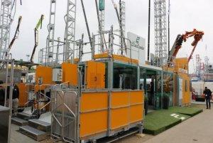 строительный подъёмник на выставке Bauma 2019 в Мюнхене